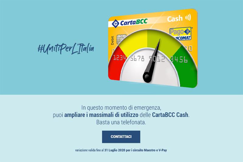 Aumento massimali CartaBCC Cash